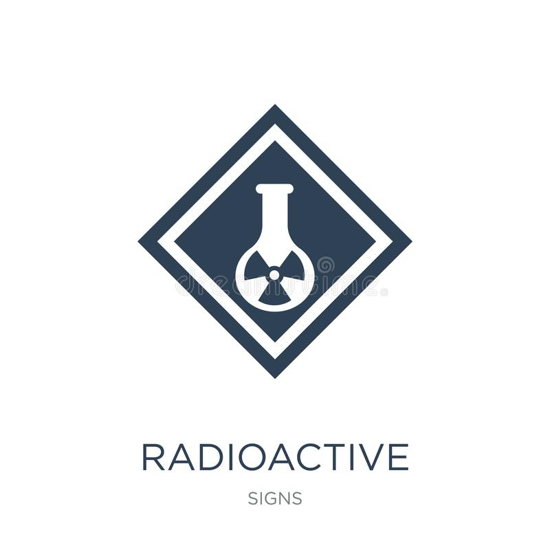 radioactive elements icon in trendy design style. radioactive elements icon isolated on white background. radioactive elements royalty free illustration