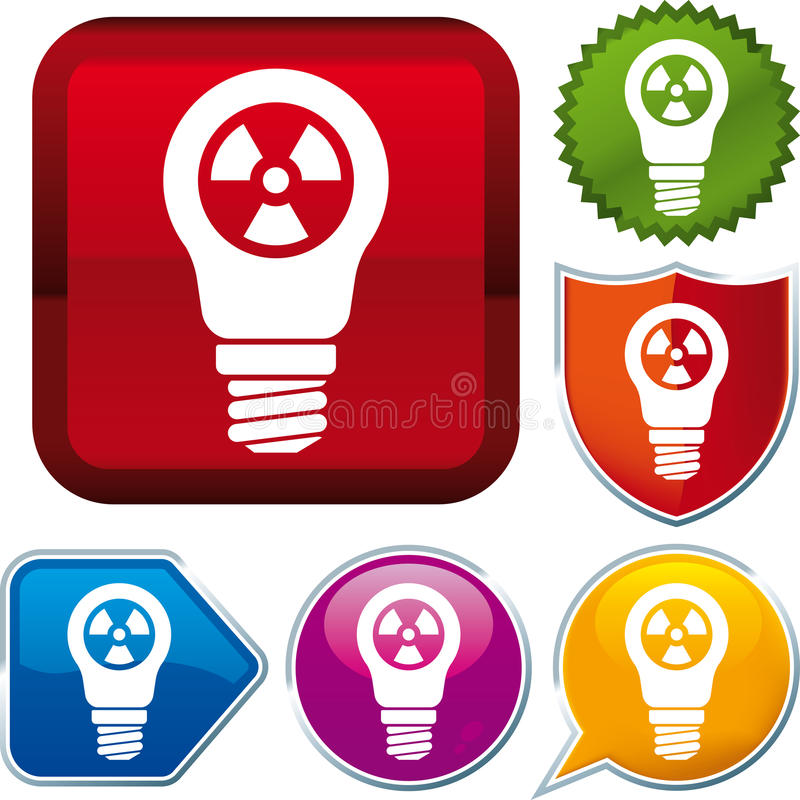 Radioactive energy icon royalty free illustration