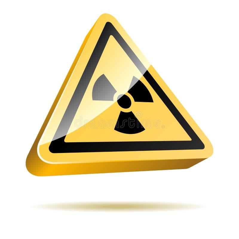 Radioactive hazard sign vector illustration