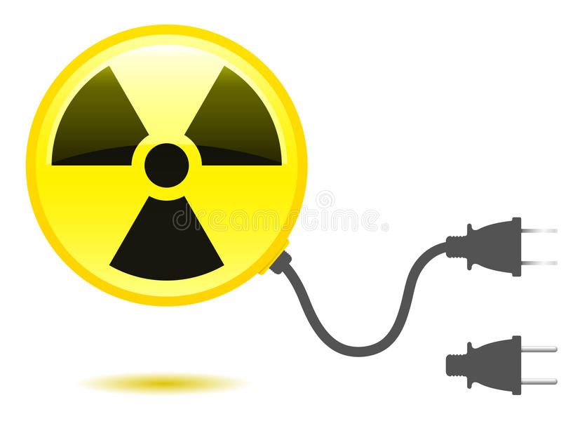 Radioactive icon with connector vector illustration