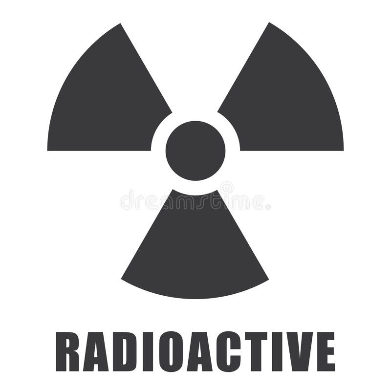 Radioactive icon in vector illustration