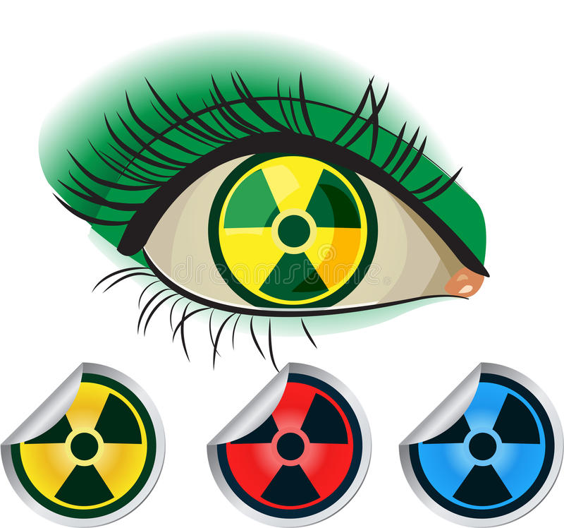 Download Radioactive ikons stock photo. Image of nuclear, symbol - 19529676