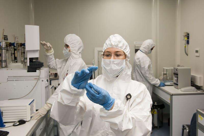 Radioactive laboratory royalty free stock photos