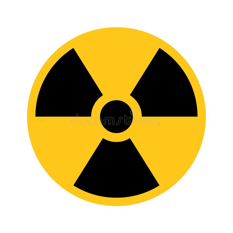 Free Radioactive Material Sign. Symbol Of Radiation Alert, Hazard Or Risk. Simple Flat Vector Illustration In Black And Stock Photos - 129585033