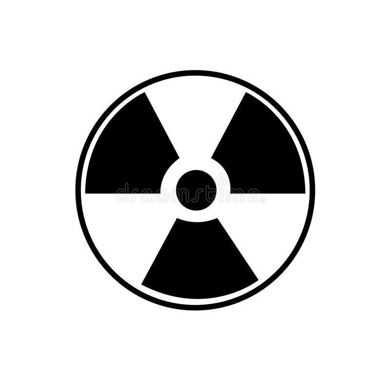 Toxic Symbol Black And White Radioactive Nuclear Wa...