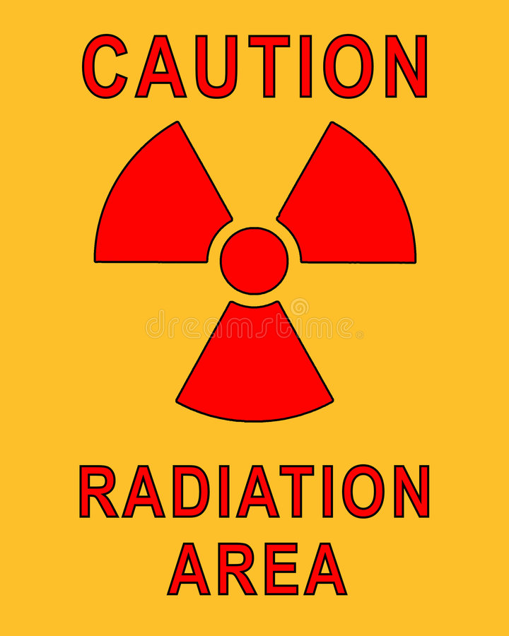 RadioActive Placard vector illustration