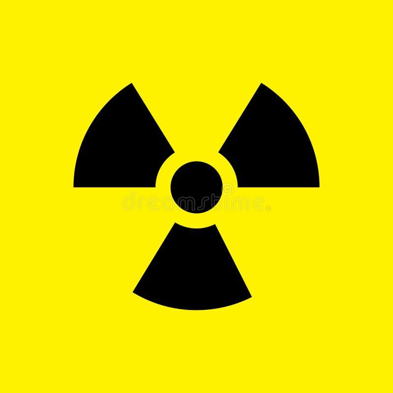 A radioactive sign royalty free illustration