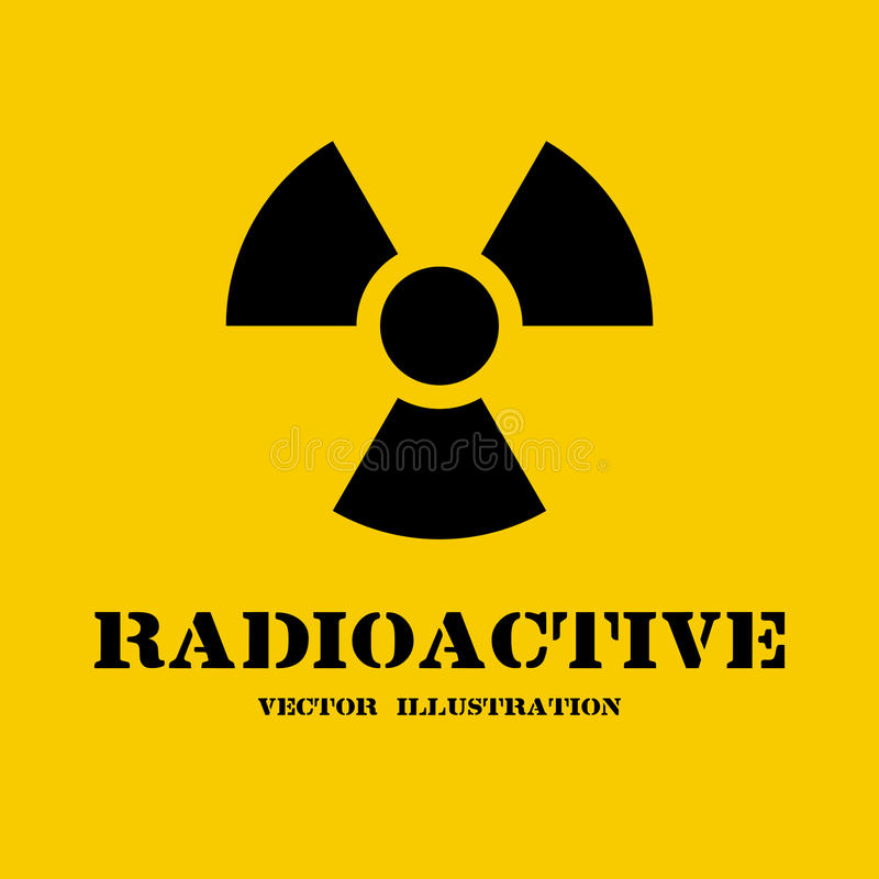 Radioactive symbol isolated royalty free illustration