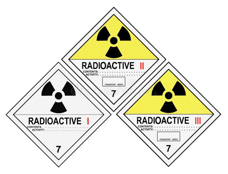 Download Radioactive Warning Labels stock illustration. Image of label - 9189809