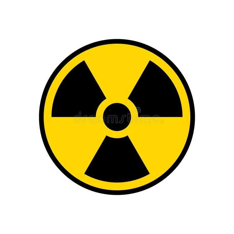 Free Radioactive Warning Yellow Circle Sign. Radioactivity Warning Vector Symbol Stock Photography - 155180682