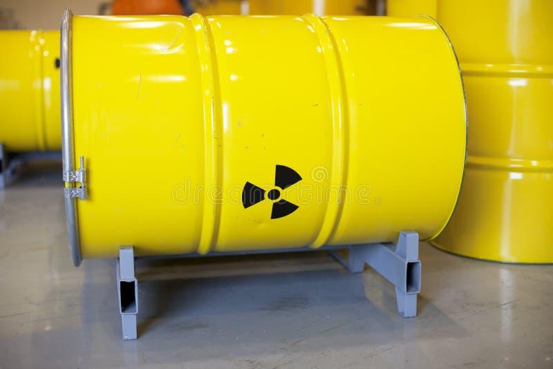Radioactive waste stock image