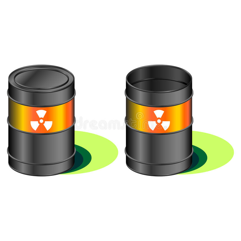 Radioactive Waste Barrels Stock Images