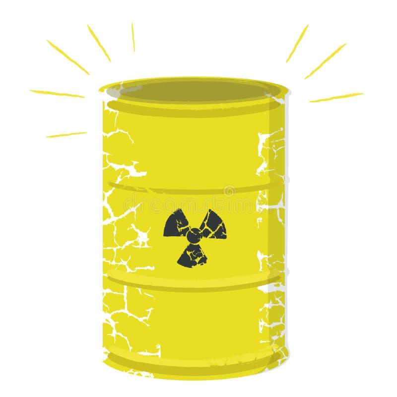 Radioactive waste vector royalty free illustration