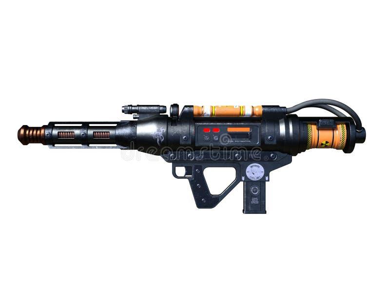 Radioactivity gun. 3D CG rendering of a radioactivity gun stock photo