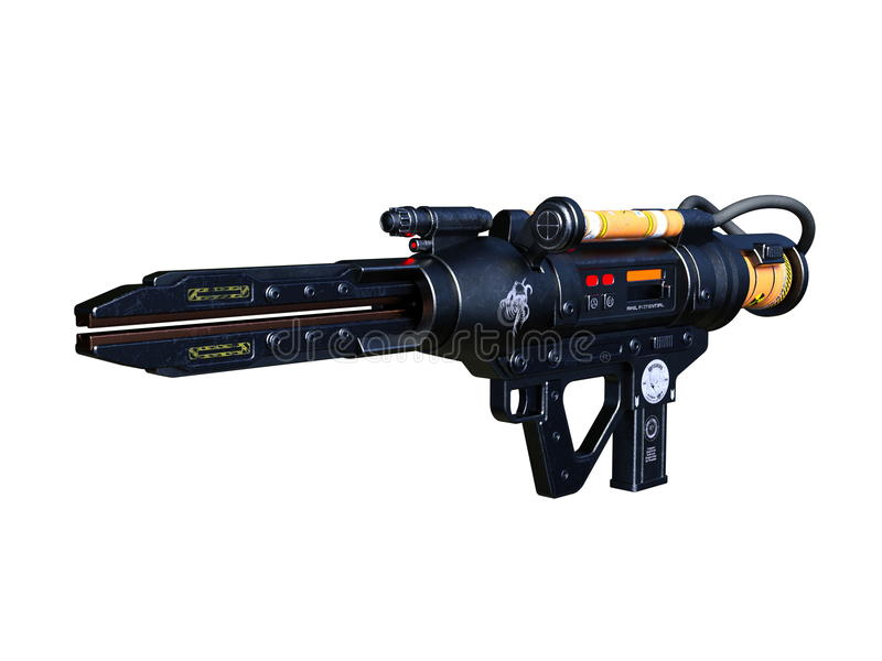 Radioactivity gun. 3D CG rendering of a radioactivity gun stock images