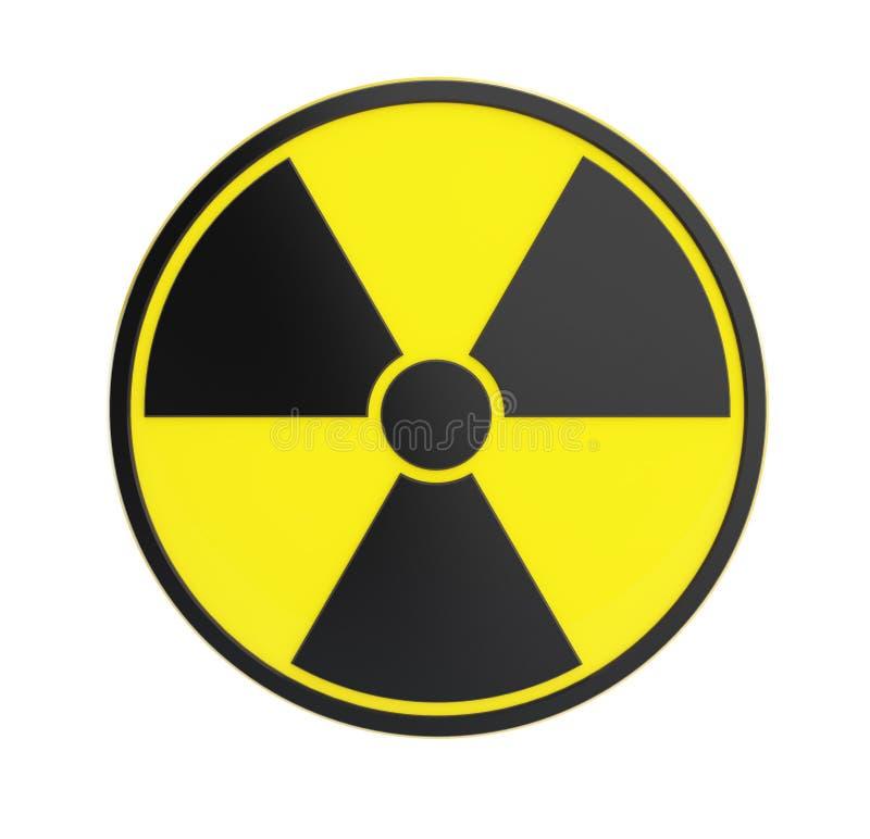 Radioactivity sing on a white background stock image