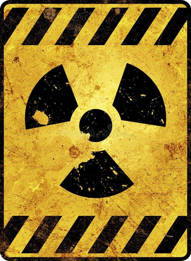 Radioactivity Warning Sign stock photography