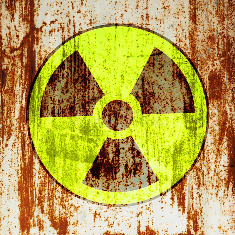 Radioactivity warning symbol vector illustration