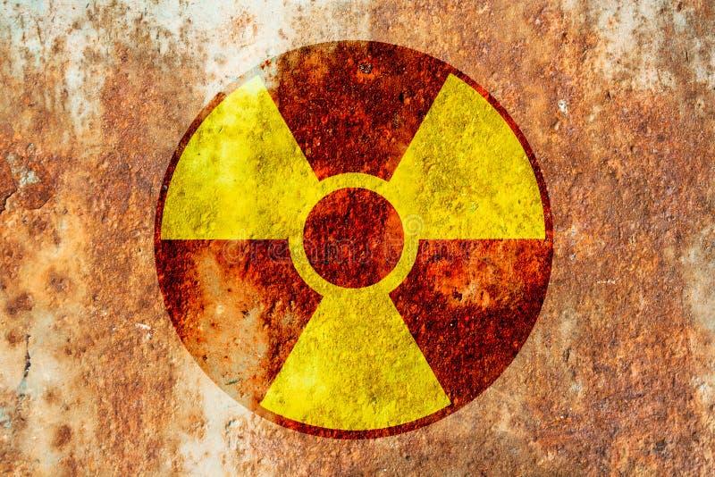 Radioactivity warning symbol stock image