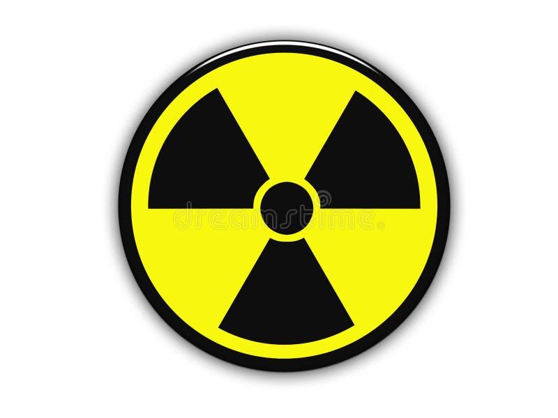radioaktiv teckenyellow royaltyfri illustrationer