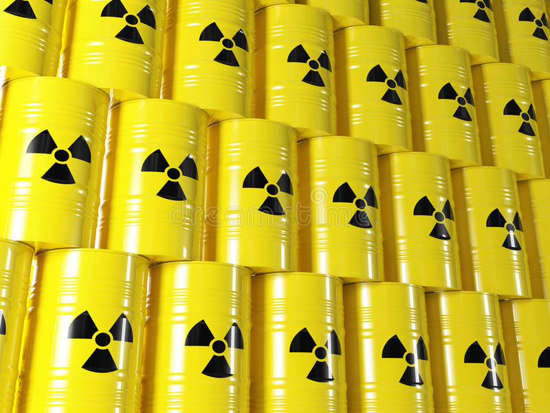 Radioaktiv trumma stock illustrationer
