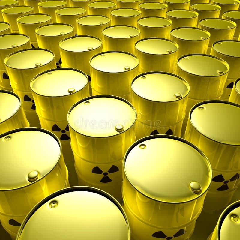 Radioaktive Fässer stock abbildung