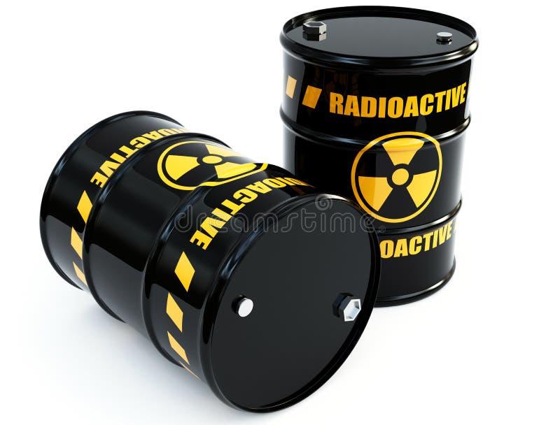 Radioaktive Fässer vektor abbildung