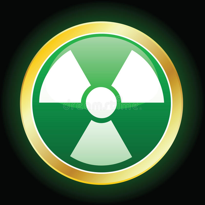 Radioaktive Ikone stock abbildung