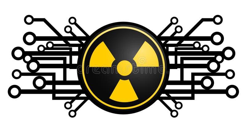 Radioaktive Ikone der Technologie vektor abbildung