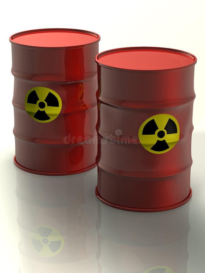 Radioaktive Metallfässer lizenzfreie abbildung