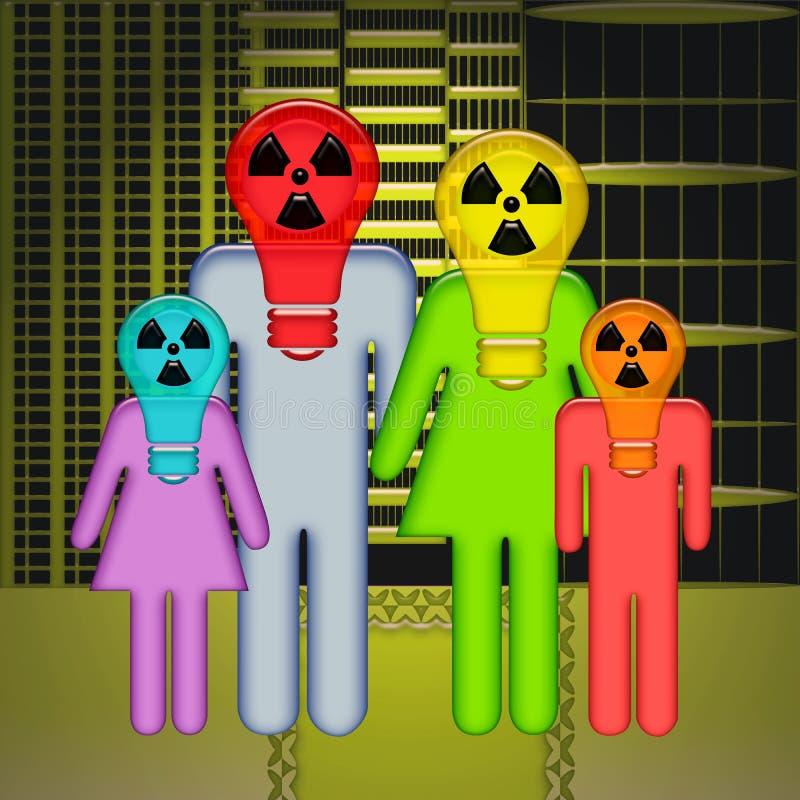 Radioaktive Stadt lizenzfreie abbildung