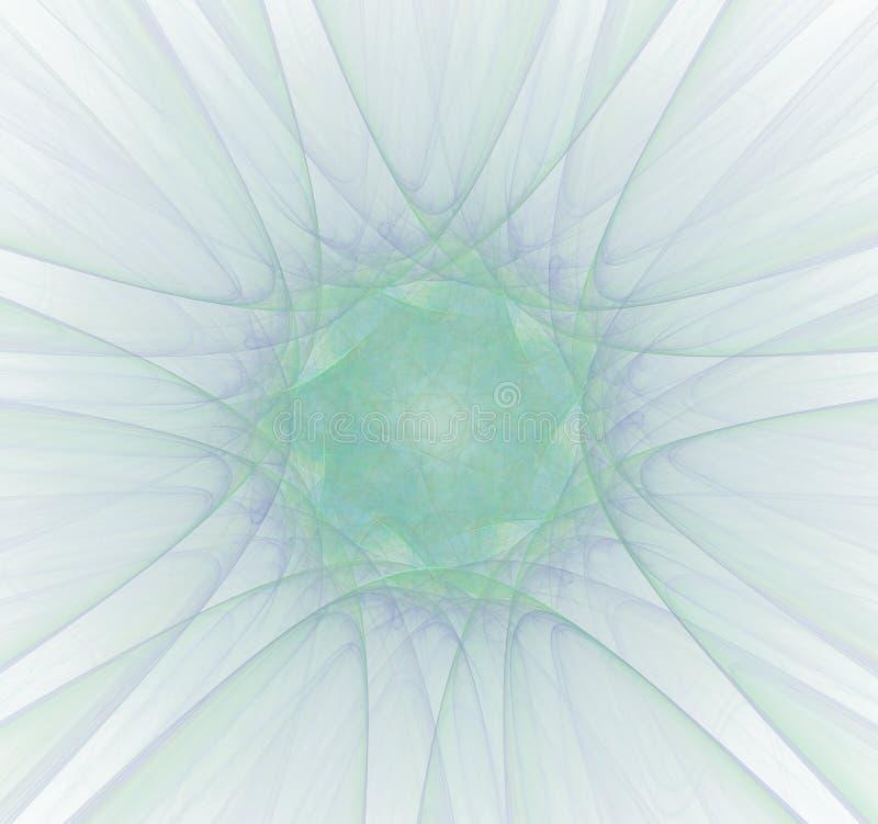Radioaktive Strahlung Bildmolek?le und -atome stock abbildung
