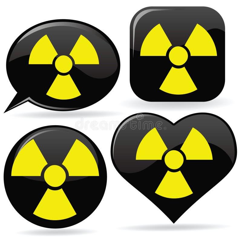Radioaktive Zeichen vektor abbildung