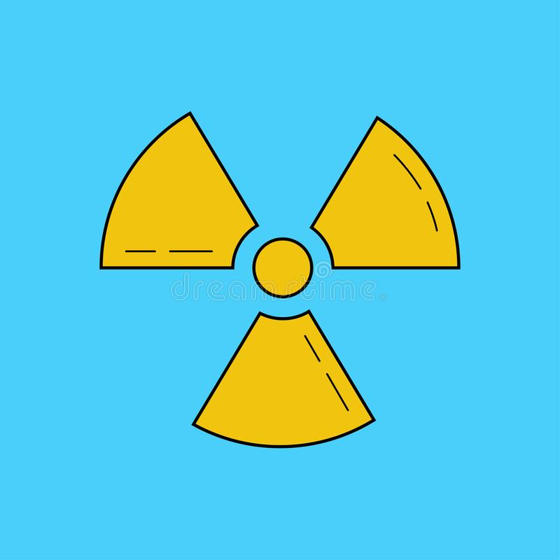 Radioaktive Zone, Vektorzeichen oder Symbol radioaktivität gefährlich vektor abbildung
