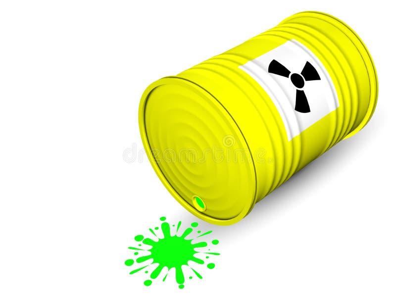 Radioaktives Faß vektor abbildung
