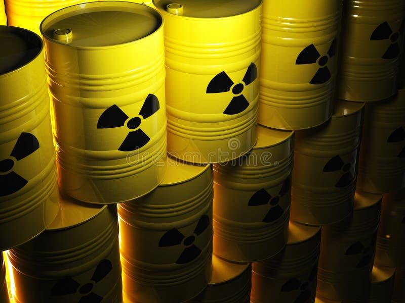 Radioaktives Fass stock abbildung