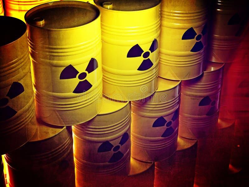 Radioaktives Fass vektor abbildung