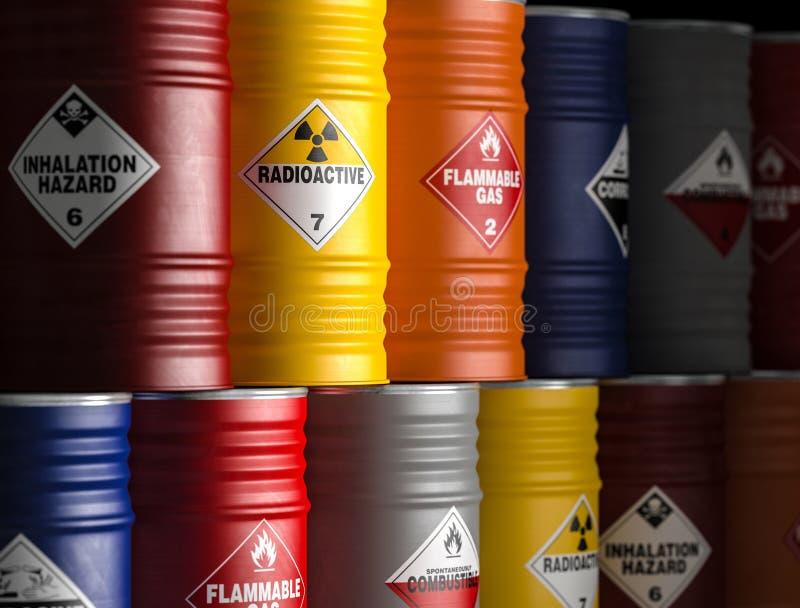 Radioaktives gelbes Fass lizenzfreie abbildung