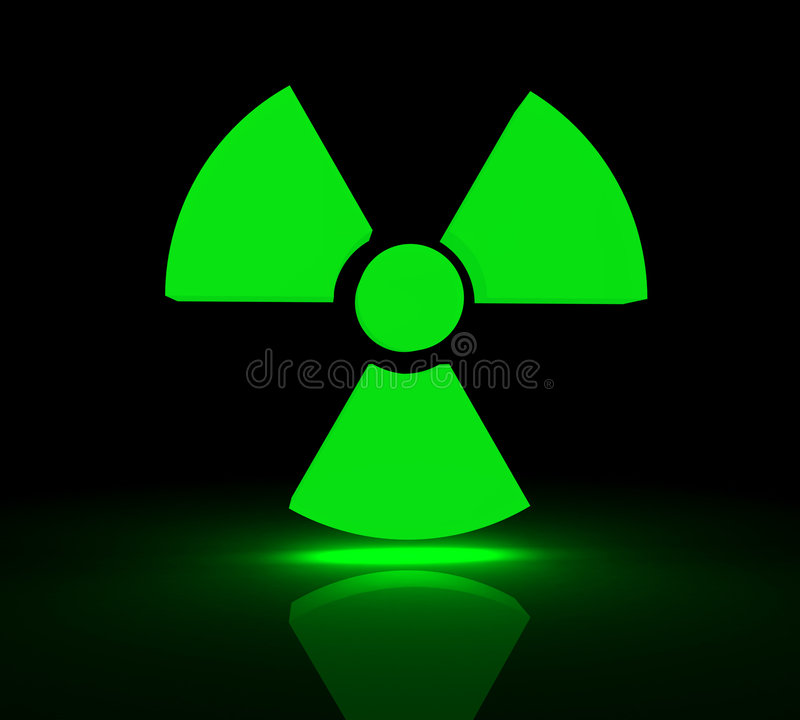 Radioaktives Symbol stock abbildung. Illustration von boden - 4836953