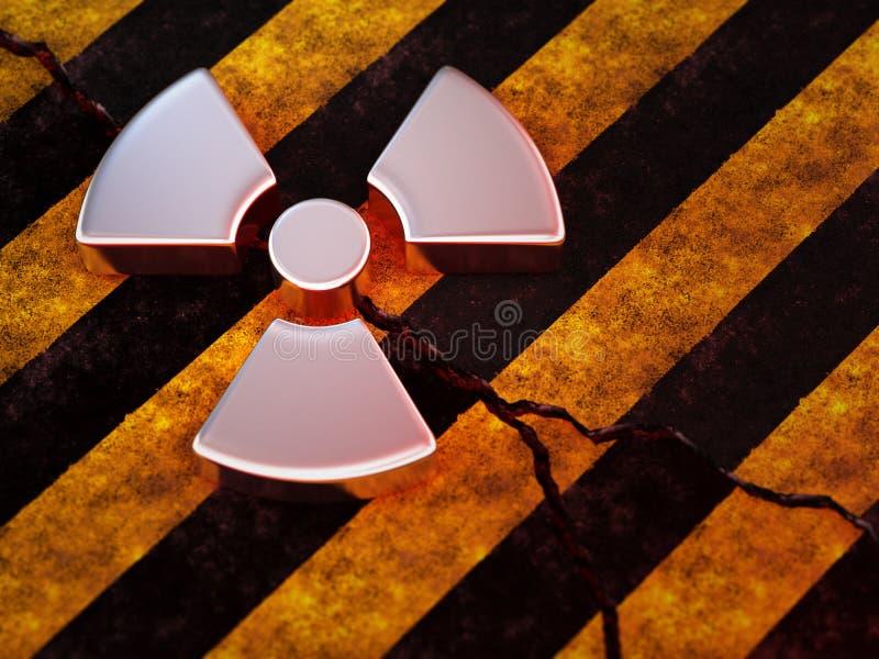 Radioaktives Zeichen lizenzfreie abbildung