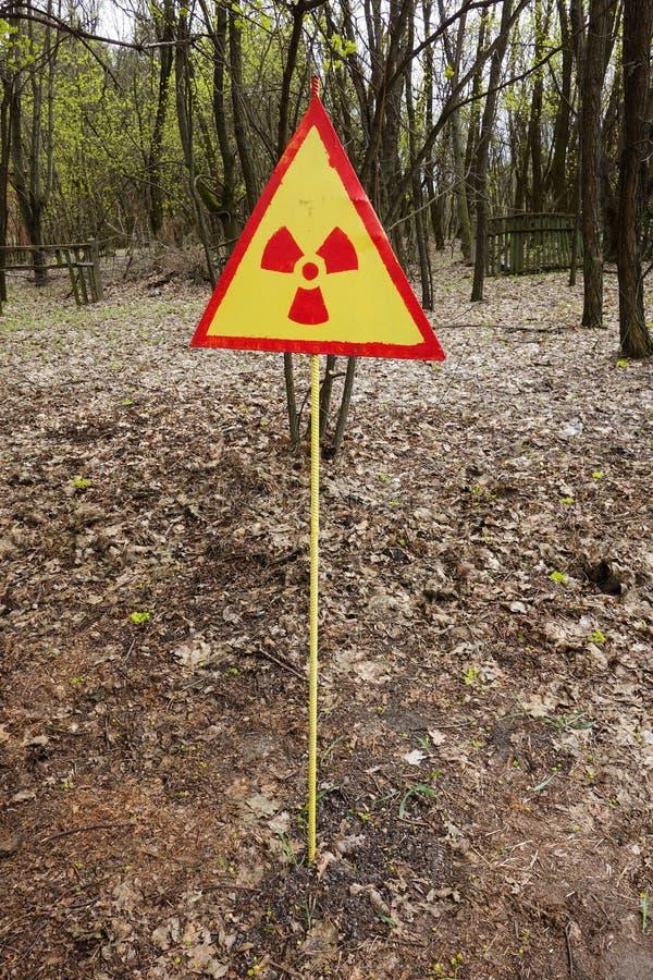 Radioaktives Zeichen stockfotos