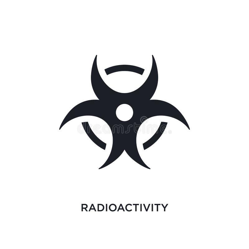 Radioaktivität lokalisierte Ikone einfache Elementillustration von den Wissenschaftskonzeptikonen Logo-Zeichensymbol der Radioakt lizenzfreie abbildung