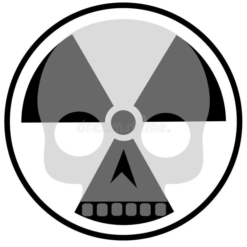 Radioaktivität und Schädel lizenzfreie abbildung