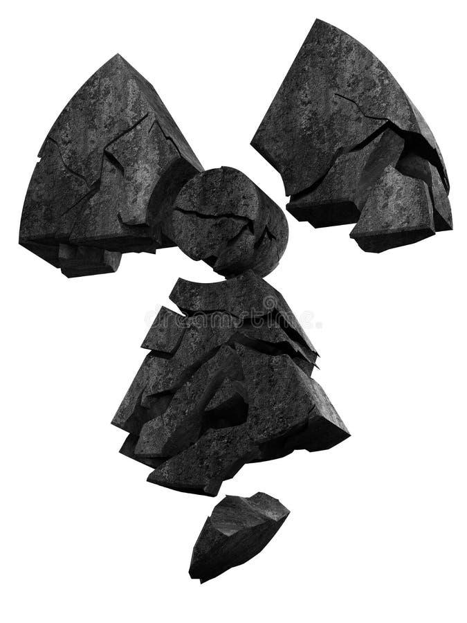 Radioaktivitätszeichenstein stock abbildung