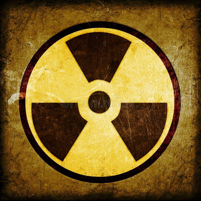Radioaktivitetsymbol arkivfoto