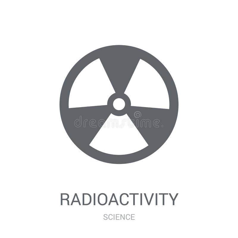 Radioaktivitetsymbol  royaltyfri illustrationer