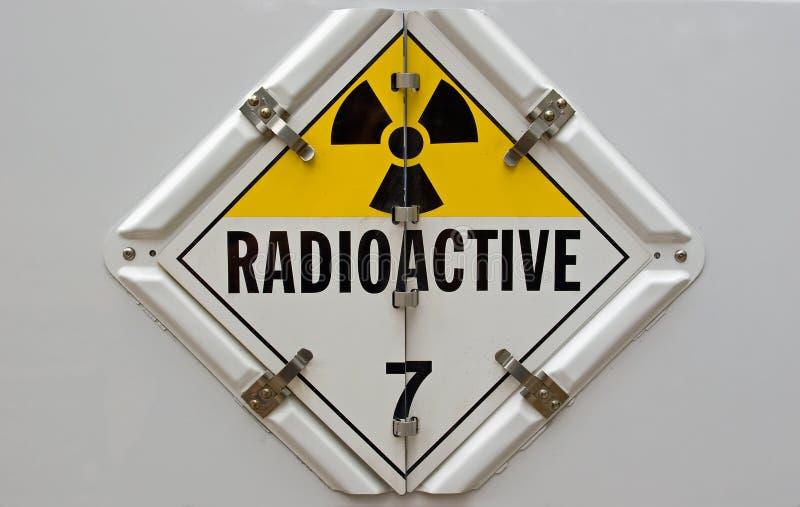 radioaktivt plakat arkivfoton