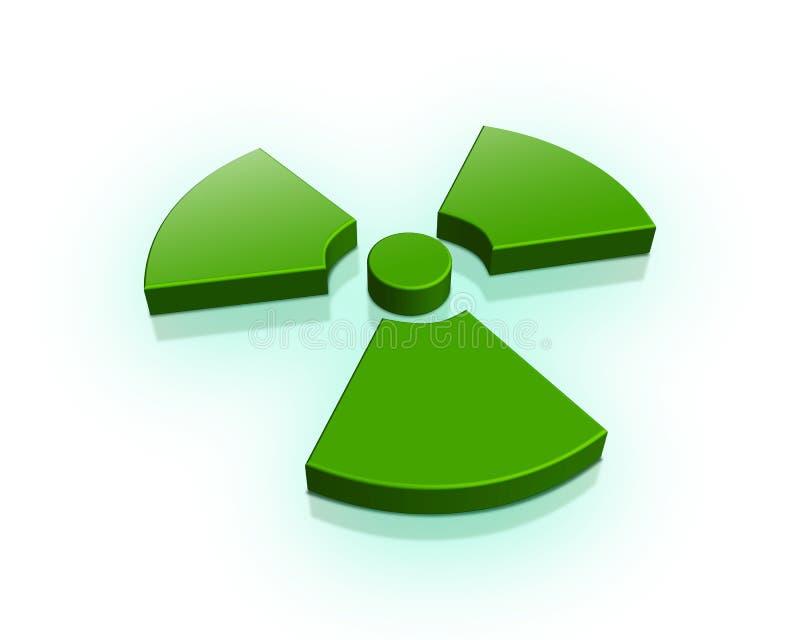 radioaktivt tecken 3d stock illustrationer