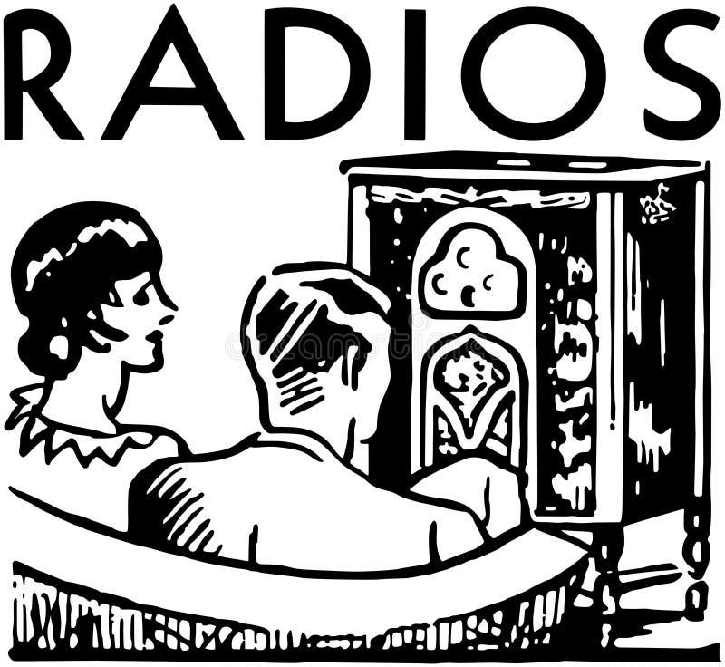 Radiobaner vektor illustrationer