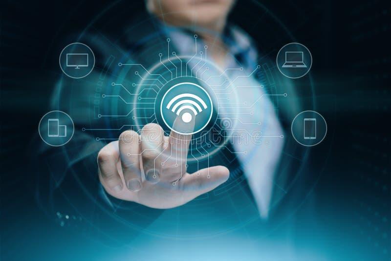 Radiobegrepp för Wi Fi Fritt begrepp för internet för teknologi för WiFi nätverkssignal royaltyfria foton